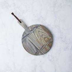 Ash Round Bread Board