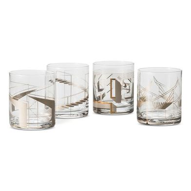 Metallic Cocktail Glasses, Set of 4