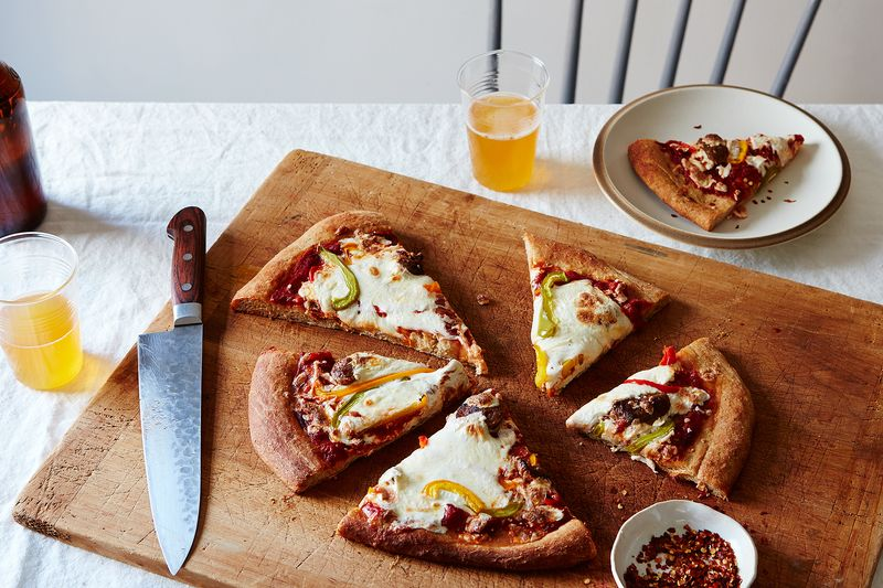 feeeb646 2911 45c4 9cb3 d6fac2a77030  2016 0607 pizza with beer dough bell peppers and italian sausage mark weinberg 380 17 Italian Dishes, Messed Up a Little