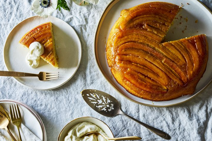 Caramelized Banana Upside-Down Cake