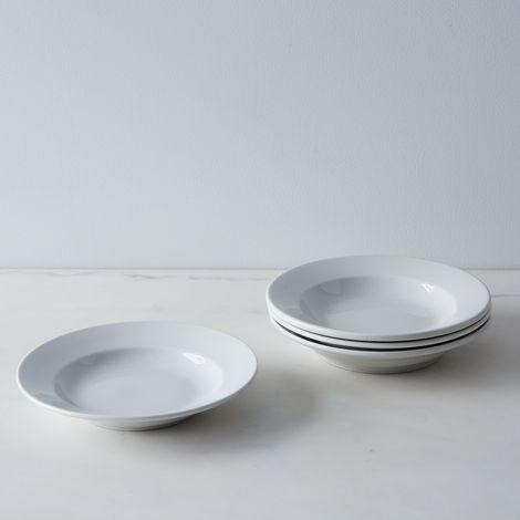 Vintage French Porcelain Soup Bowls (Set of 4)