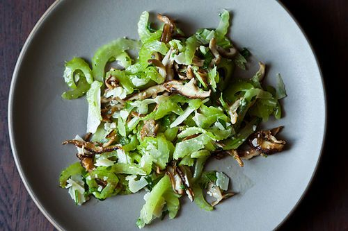 Italian Celery and Mushroom Salad + Autumn Celeriac Puree