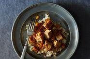 Weeknight Soy Sauce-y, Peanut-y Tofu