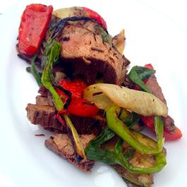 Grilled Vegetable Steak Salad With Sesame Balsamic Glaze