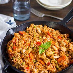 One Pot Chicken Rice Dinner in 5 Easy Steps