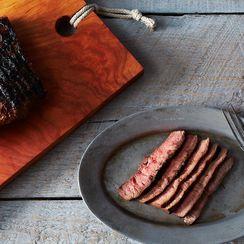 Miso-Marinated Flat Iron Steak with Yuzu Kosho