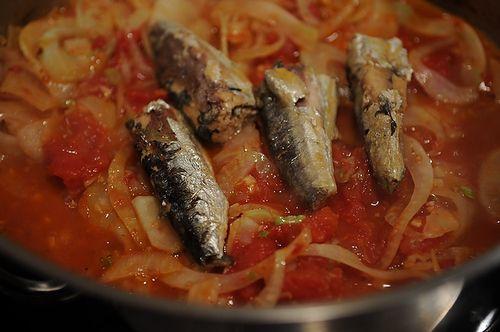 Linguine with Sardines, Fennel & Tomato