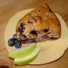 blueberry applesauce cake