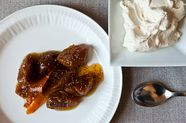 Drunken Honeyed Figs with Lemon Mascarpone Whipped Cream