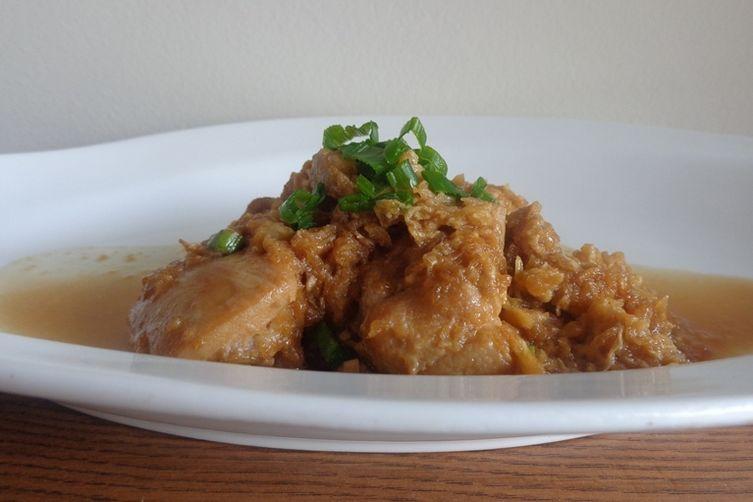 Braised Chicken with Sweet Savory Daikon Sauce