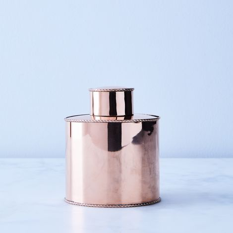 Vintage Copper English Tea Caddy, Late 19th Century