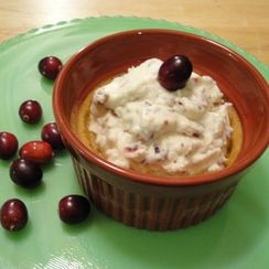 Pumpkin Pots de Creme with Orange Cranberry Whipped Cream