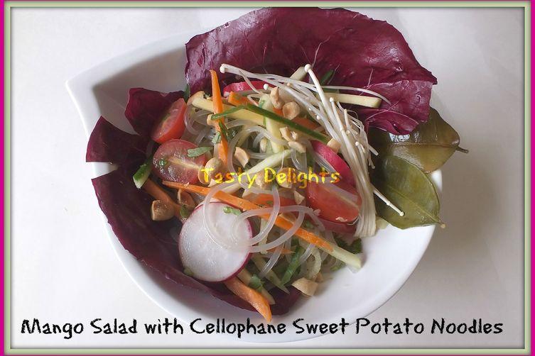 Green Mango Salad with Sweet Potato Noodles
