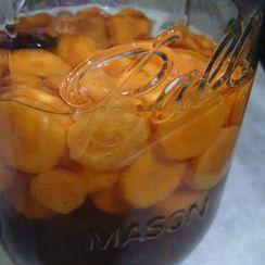 Maple-Bourbon Carrot Pickles