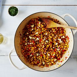 A Spicy, Cheesy, and Herby Sriracha-Lime Corn Salad