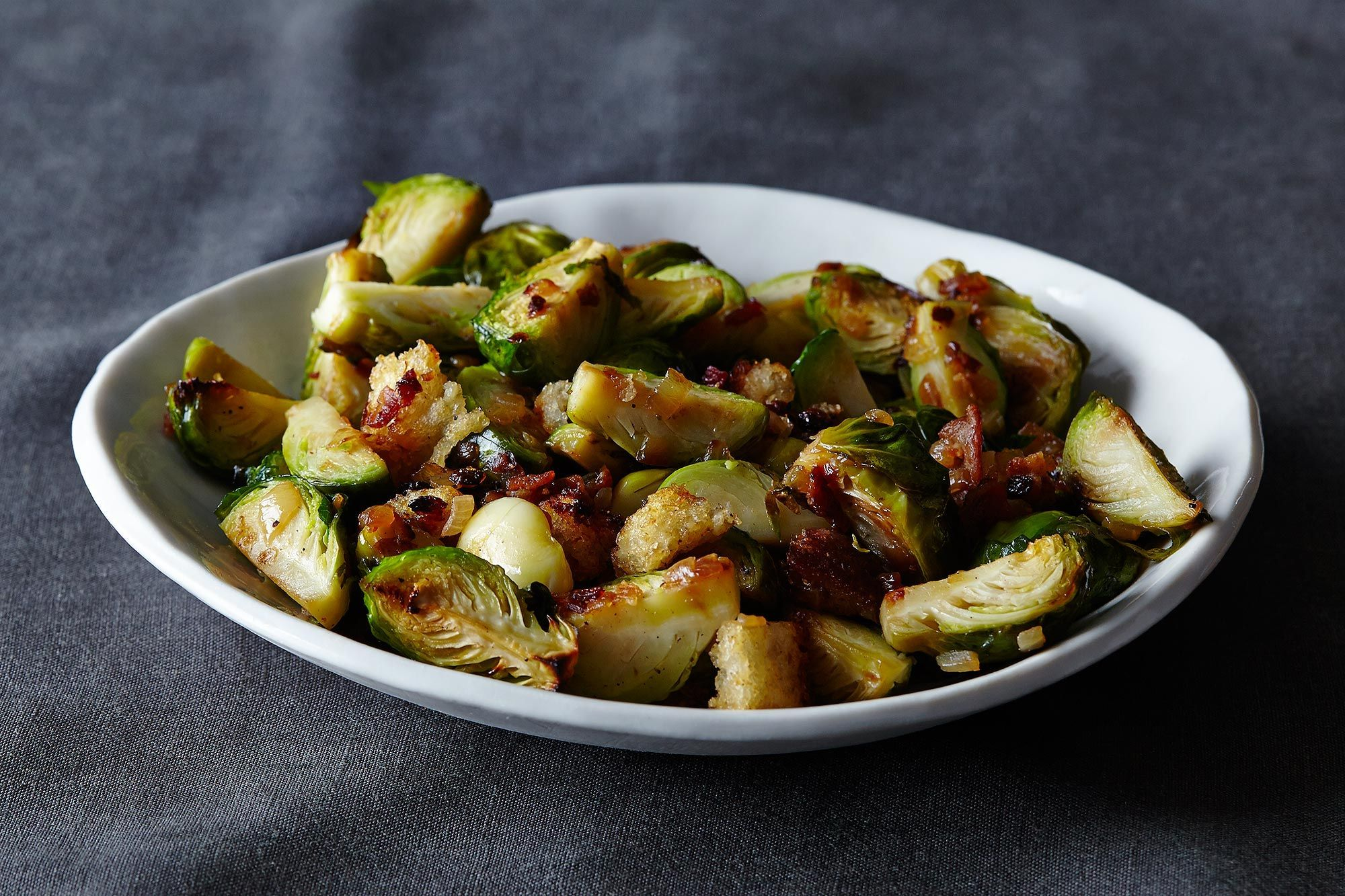Roasted Brussels Sprouts Recipe With Bacon Parmesan And