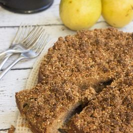 Gluten-Free Brown Butter & Pear Coffee Cake