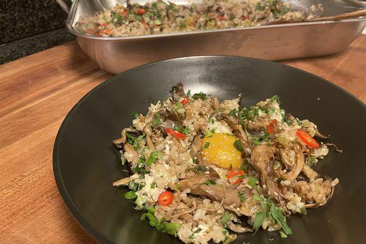 Roasted Mushroom Fried Rice