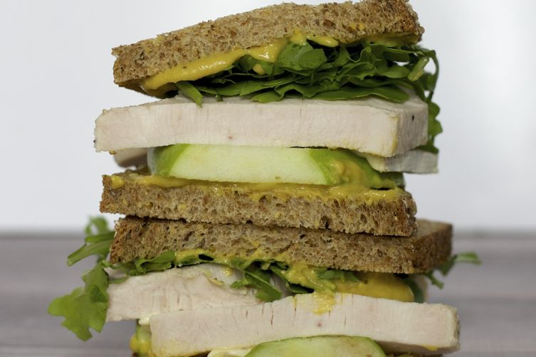 Roasted Turkey, Apple & Brie Sandwich