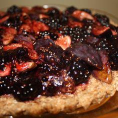 Raw Blackberry Fig Tart