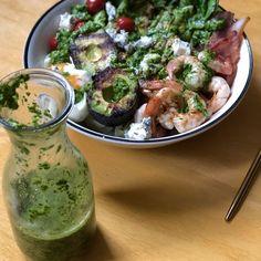 Grilled Deconstructed Shrimp Cobb Salad