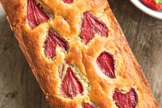 Roasted Strawberry Bread, with Coconut and Lemon