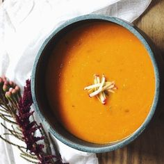 Saffron-Ginger Carrot Soup