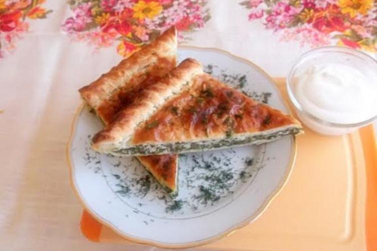 Spicy Swiss Chard and Feta Cheese Pie in Yogurt Pastry Dough