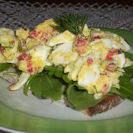 Egg salad two ways no mayo