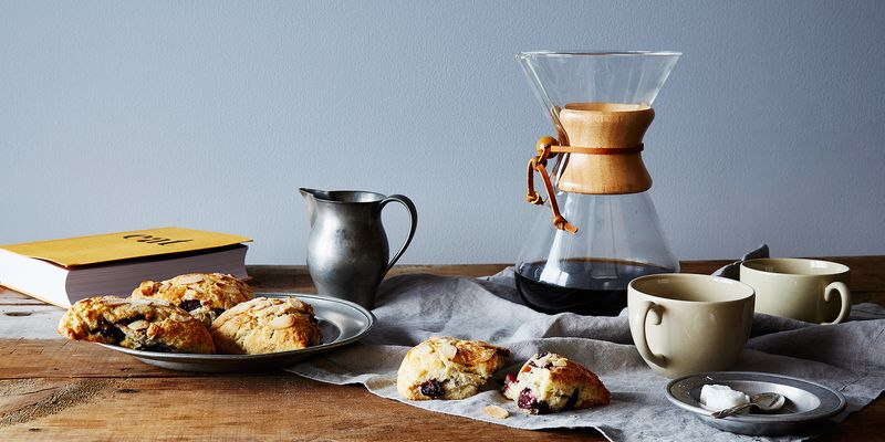 Coffee in the Chemex and coffee in the scones (?)