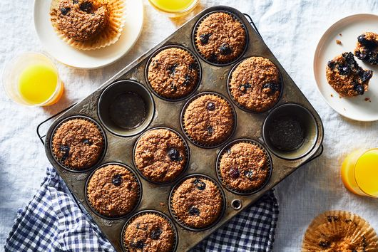 Mom's Favorite Blueberry-Bran Muffins