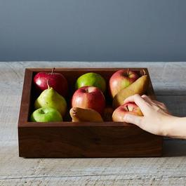 Walnut Fruit Square Box