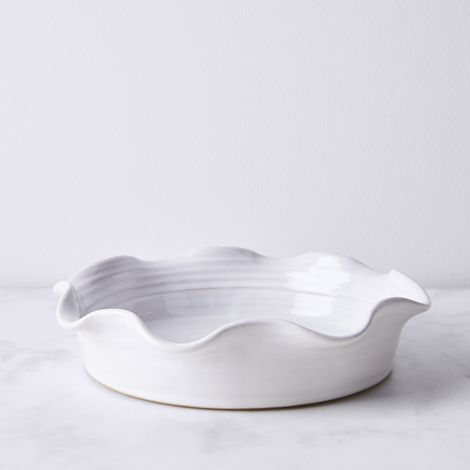 Wheel-Thrown Ruffled Pie Dish