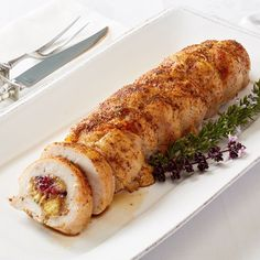 Turkey Roast with Sausage, Fruit, & Pistachio Dressing