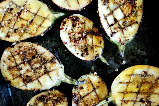 ROASTED EGGPLANT WITH LIME RICOTTA DRESSING