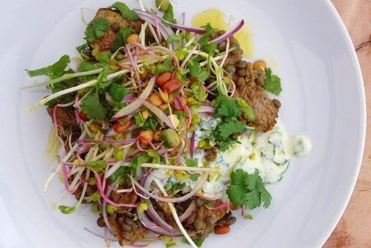 Spiced Lamb and Lentil Salad with Minted Yoghurt