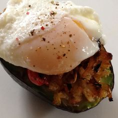Stuffed Avocado With Poached Egg