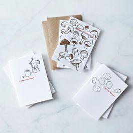 Witty Valentine's Letterpress Cards (Set of 6)