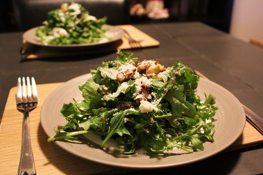 Arugula and Candied Walnut Salad