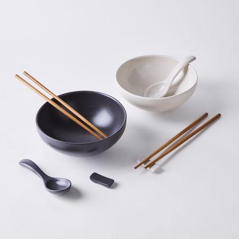 Modern Classic Ceramic Ramen Bowl Gift Set