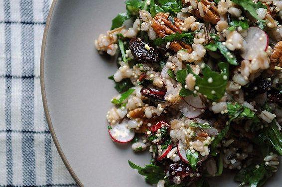 Radish and Pecan Grain Salad