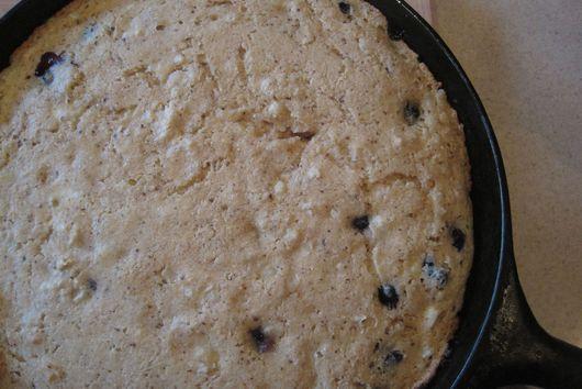 Corn Bacon Blueberry Skillet Cake