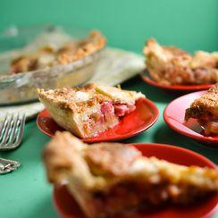 Rhubarb Custard Pie From The Junior League Of Madison Cookbook