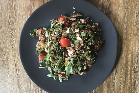 All-Week-Long Toasted Almond Quinoa and Arugula Salad