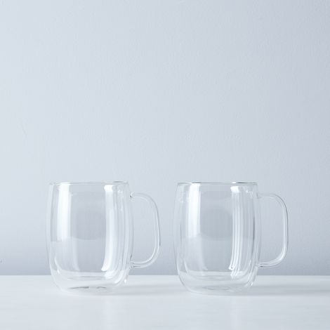 Sorrento Double Walled Mugs with Handles (Set of 2)