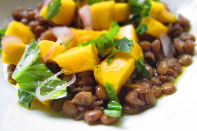 Lentils With Fresh Mango Sauce