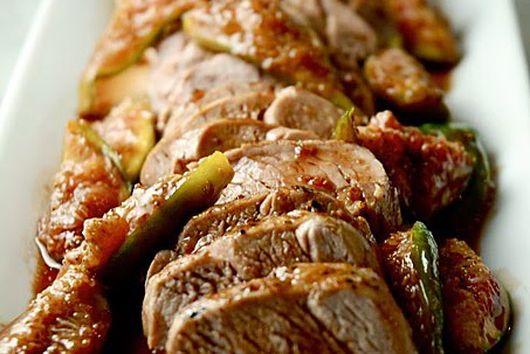 Roasted Pork Tenderloin with Fresh Fig Sauce