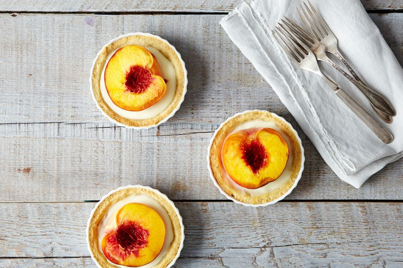 Merrill Stubbs' killer peach tartlets.