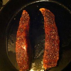 Spice-rubbed Seared Salmon