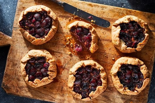 Blue Cheese & Cherry Crostatas